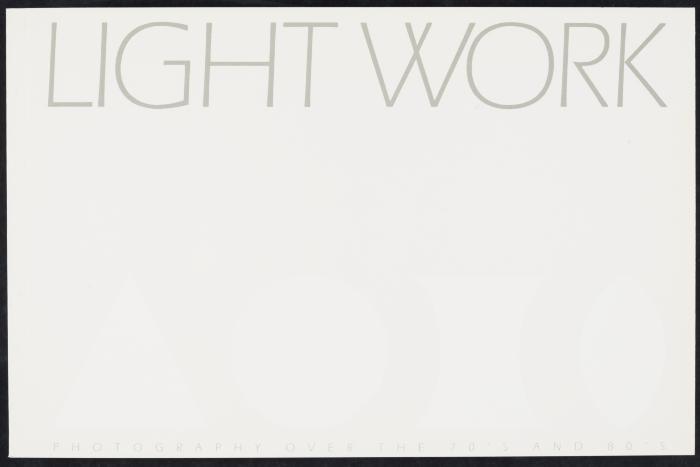 Exhibition Catalog: Light Work Retrospective
